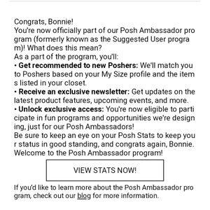 Posh Ambassador Status!!!!